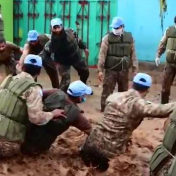 Pakistani Peacekeepers rescued more than 2000 people stranded due to heavy floods in UVIRA region of South Kivu in Democratic Republic of CONGO