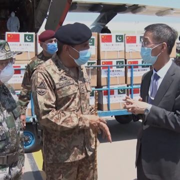 A team of Chinese doctors along with medical supplies & equipment arrived Pakistan on two special aircraft