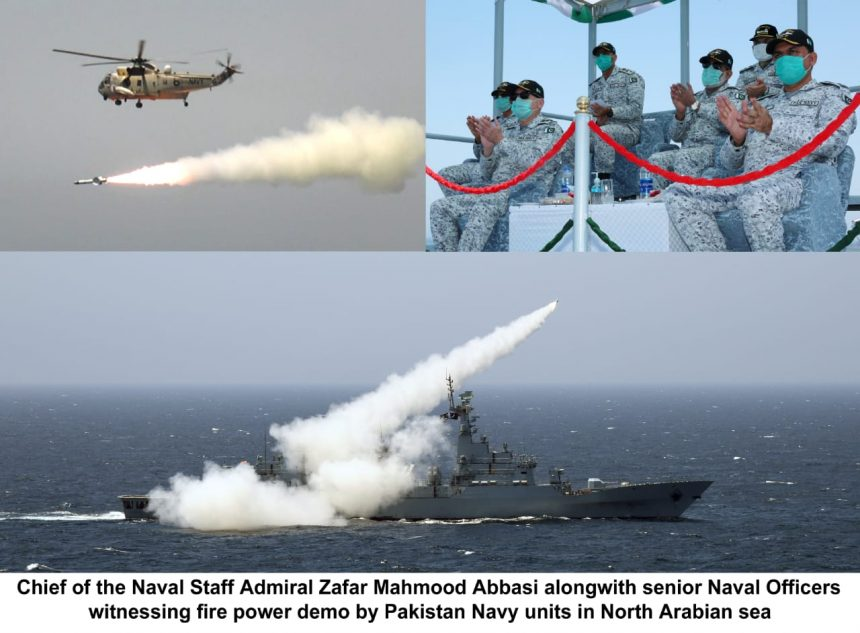 PAKISTAN NAVY CONDUCTS LIVE WEAPONS FIRING IN NORTH ARABIAN SEA