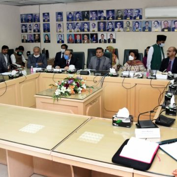 Federal Minister Shibli Faraz and SAPM Asim Bajwa arrived at the Ministry of Information
