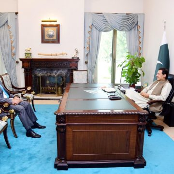 Director General ISI Lt. Gen. Faiz Hamid called on Prime Minister Imran Khan