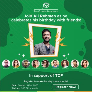 Ali Rehman Khan to Celebrate Virtual Birthday to Raise Funds for TCF's COVID-19 Response Appeal
