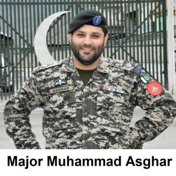 Major Muhammad Asghar laid his life in the line of duty at Torkham Border in fight against COVID-19