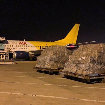 Two special flights carrying COVID-19 relief items leave China for Pakistan