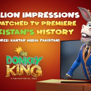 The Donkey King on Geo TV is the most watched Television Premiere in the history of Pakistan