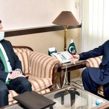 British High Commissioner Christian Turner called on Federal Minister for Information and Broadcasting
