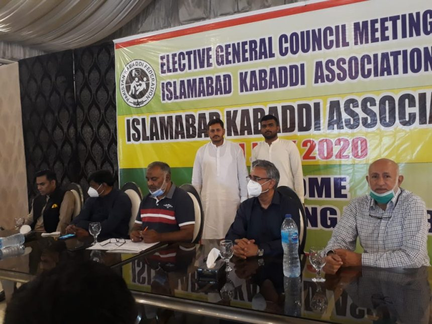 Rao Faisal elected as President of Islamabad Kabadi Association for the next 4 years