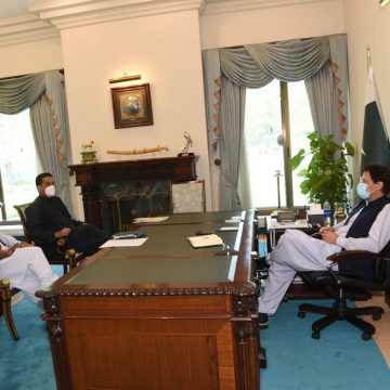 Climate Change Advisor Malik Amin Aslam and Special Assistant for Youth Affairs Usman Dar call on PM Imran Khan