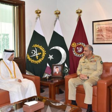 H.E Sheikh Saoud bin Abdulrahman Al Thani, Ambassador of Qatar called on General Qamar Javed Bajwa