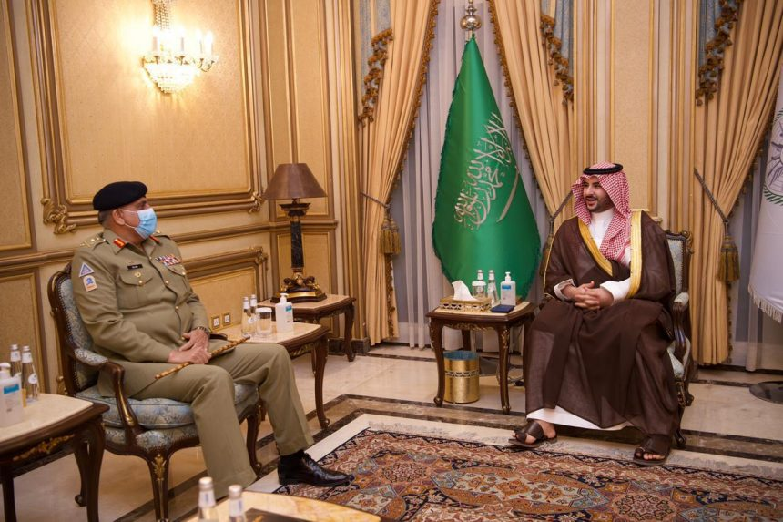 Chief of Army Staff, Saudi Deputy Minister of Defense discuss SECURITY matters