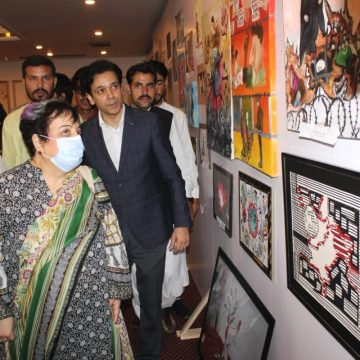 "Kashmir Through Art"" highlights the plight of people of Indian Occupied Kashmir"