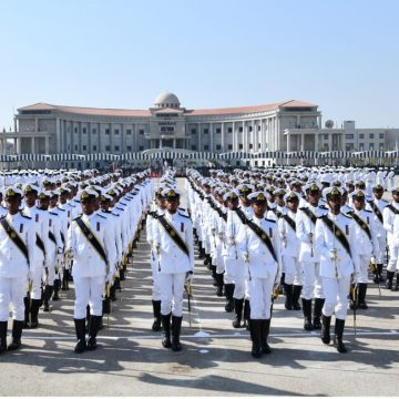 114TH MIDSHIPMEN COMMISSIONING PARADE HELD AT PAKISTAN NAVAL ACADEMY