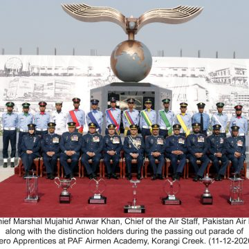 FIRST BATCH OF AERO APPRENTICES PASSES OUT AFTER FOUNDATION AND ESTABLISHMENT OF PAF AIRMEN ACADEMY KORANGI CREEK AT KARACHI