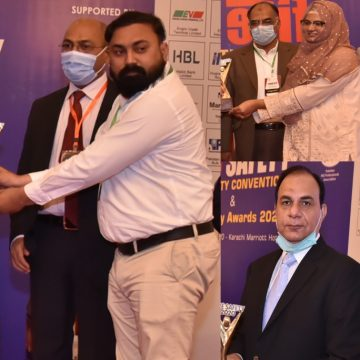 Sindh LG Minister Nasir Shah  gives Fire Safety Awards to 43 companies