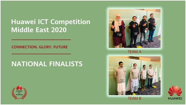 Pakistani Teams  Secured 1st  and 2nd  Positions in Huawei Middle East ICT Competition 2020