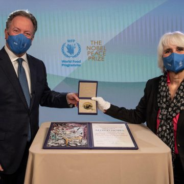 WFP CHIEF URGES WORLD TO USE ITS WEALTH TO PREVENT FAMINE IN NOBEL ACCEPTANCE SPEECH
