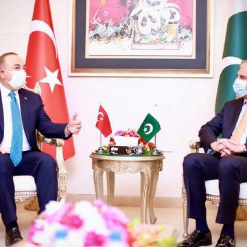 Turkish Foreign Minister Meets Foreign Minister Makhdoom Shah Mehmood Qureshi
