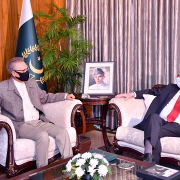 The Outgoing Cuban Ambassador, Mr. Gabriel Tiel Capote, called on President Dr Arif Alvi