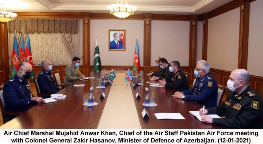 Chief of the Air Staff, Pakistan called on Lt Gen Ramiz Tahirov, Commander Azerbijan Air Force