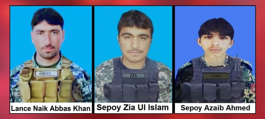 3 soldiers embraced shahadat in North waziristan, ISPR