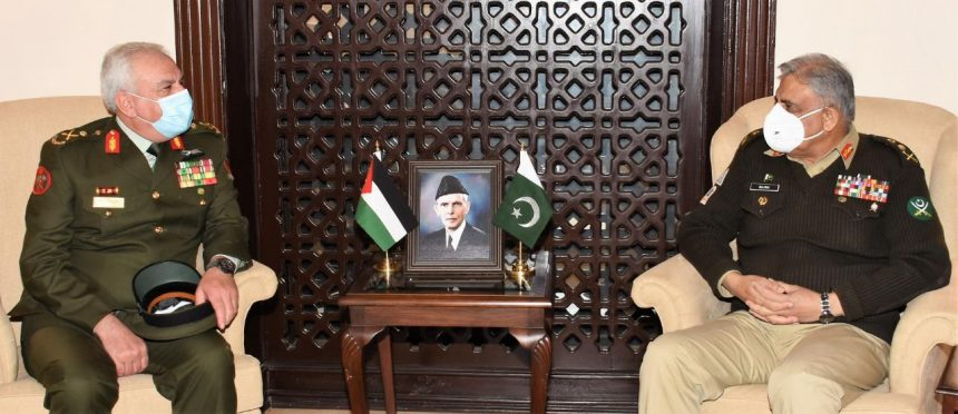 Chairman Joint Chief of Staff Jordan Armed Forces called on COAS, ISPR