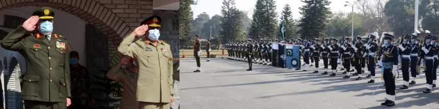 Chairman of the Joint Chiefs of Staff, Jordanian Armed Forces, who is on official visit to Pakistan, called on CJCSC, at JS HQ.