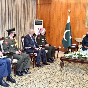 Chairman Joint Chiefs of Staff, Jordan Armed Forces called on President Dr Arif Alvi