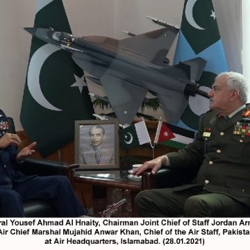 JORDANIAN CHAIRMAN JOINT CHIEF OF Staff CALLS ON AIR CHIEF AT AIR HEADQUARTERS