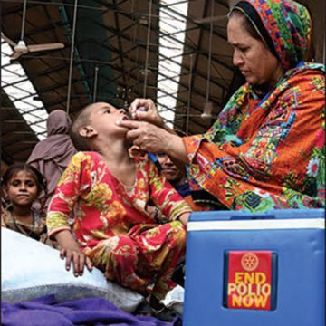 More than 40 million children received vaccination during nationwideanti-polio vaccination drive