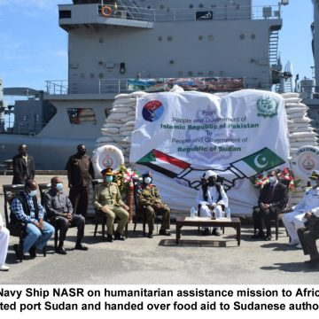 PAKISTAN NAVY SHIP NASR VISITS DJIBOUTI SUDAN AS PART OF HUMANITARIAN ASSISTANCE DISASTER RELIEF MISSION IN AFRICAN REGION