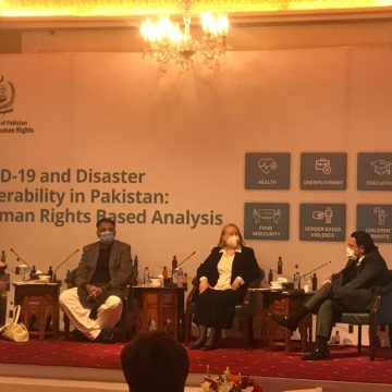 Ministry of Human RIGHTS UNDP launch report on Covid-19 and Disaster Vulnerability in Pakistan