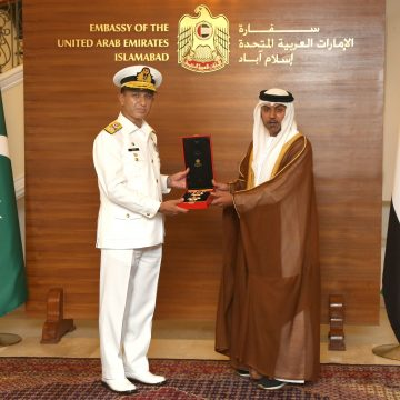 Naval Chief Awarded