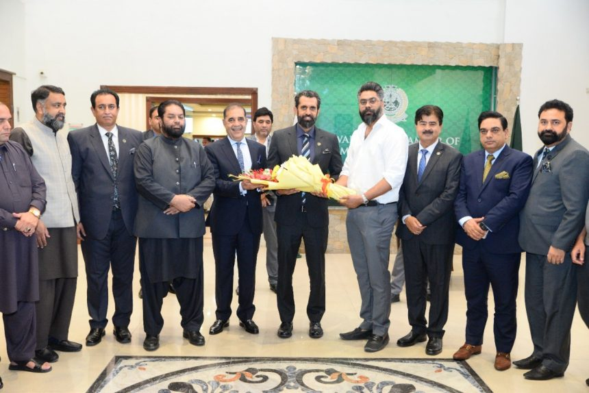 The newly elected RCCI President meets Builders and Realtors Delegation led by AAA Associates